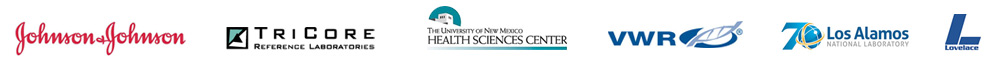 Johnson & Johnson, Tricore, UNM HSC, VWR, Los Alamos National Laboratory, Lovelace